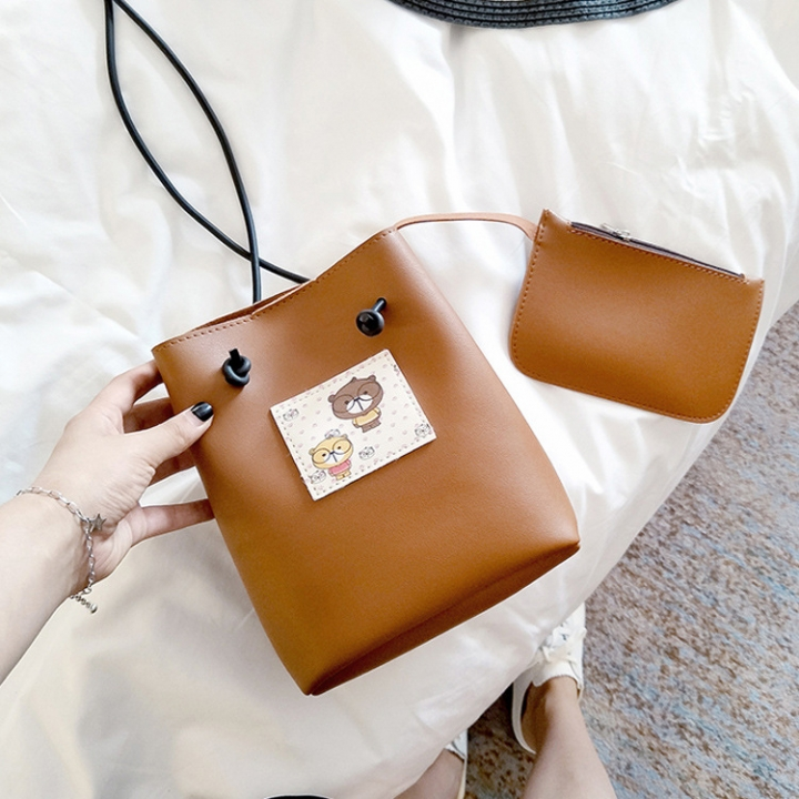The New Small Square bag Mobile Phone bag Shoulder Oblique Cross Package Fashion Leisure Coin Purse brown one size