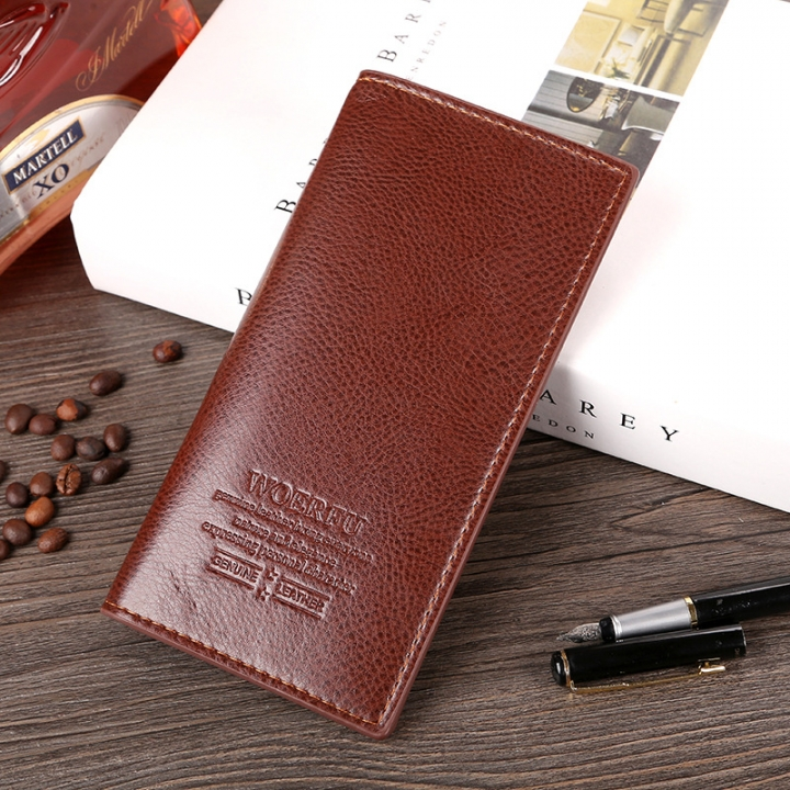 The New Men Long Section Fashion Business Wallet Card Pack Leisure Wallet brown one size
