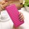 The New Long Section Weave Ms Lovely Coin Purse Fashion Leisure  Thin Section Wallet rose red one size