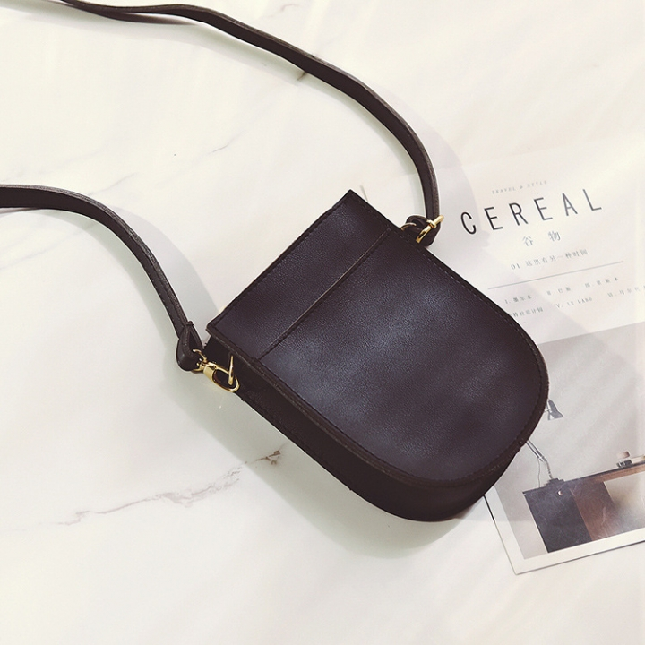 Ms Small Square Bag Route Fashion Solid Color Shoulder Bags Messenger Bag Mobile Phone Bag black one size