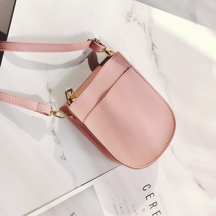 Ms Small Square Bag Route Fashion Solid Color Shoulder Bags Messenger Bag Mobile Phone Bag pink one size