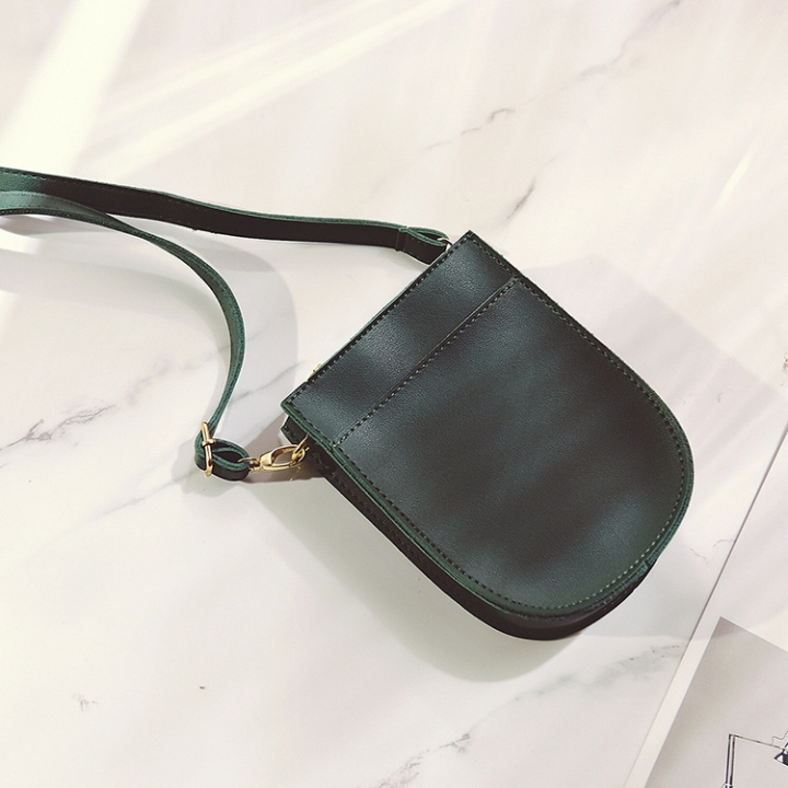 Ms Small Square Bag Route Fashion Solid Color Shoulder Bags Messenger Bag Mobile Phone Bag green one size