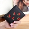 Small Wallet Short Section Embroidery Mini Student Small Fresh fold Ultra Thin Coin Coin Purse black one size