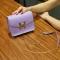 The New Small Square Bag Mini Bag Chain Bag Ms Fashion Leisure Shoulder Messenger Bag purple one size