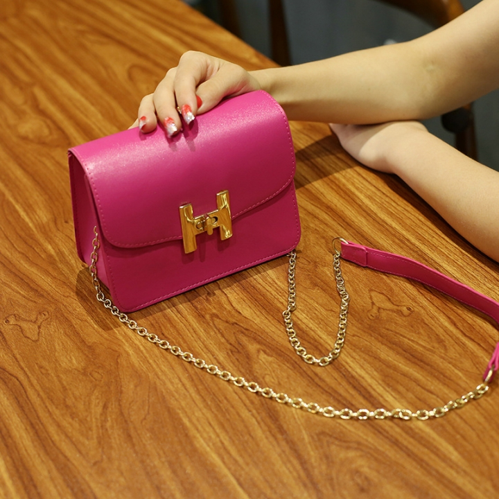 The New Small Square Bag Mini Bag Chain Bag Ms Fashion Leisure Shoulder Messenger Bag rose red one size