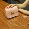 The New Small Square Bag Mini Bag Chain Bag Ms Fashion Leisure Shoulder Messenger Bag pink one size