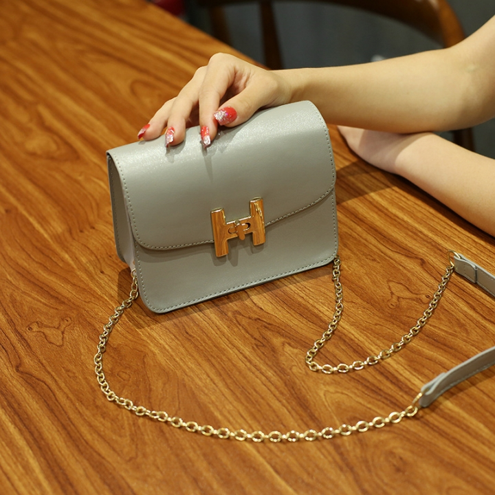 The New Small Square Bag Mini Bag Chain Bag Ms Fashion Leisure Shoulder Messenger Bag gray one size
