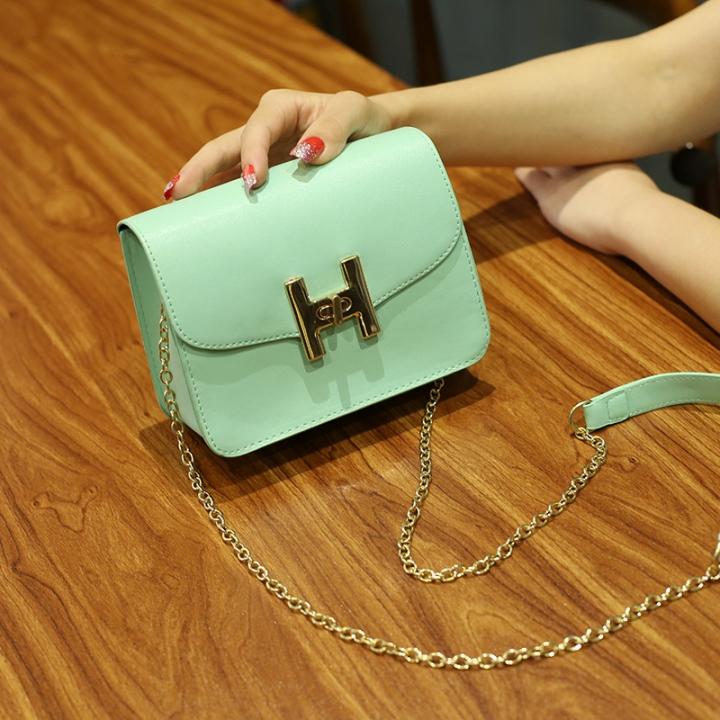 The New Small Square Bag Mini Bag Chain Bag Ms Fashion Leisure Shoulder Messenger Bag Fruit green one size