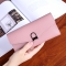 Female Wallet Student Lovely Wild Western Style Ultra Thin Mini Small Fresh Multi-Card Bit Wallet pink one size
