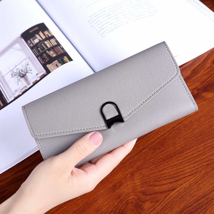 Female Wallet Student Lovely Wild Western Style Ultra Thin Mini Small Fresh Multi-Card Bit Wallet gray one size