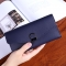 Female Wallet Student Lovely Wild Western Style Ultra Thin Mini Small Fresh Multi-Card Bit Wallet blue one size