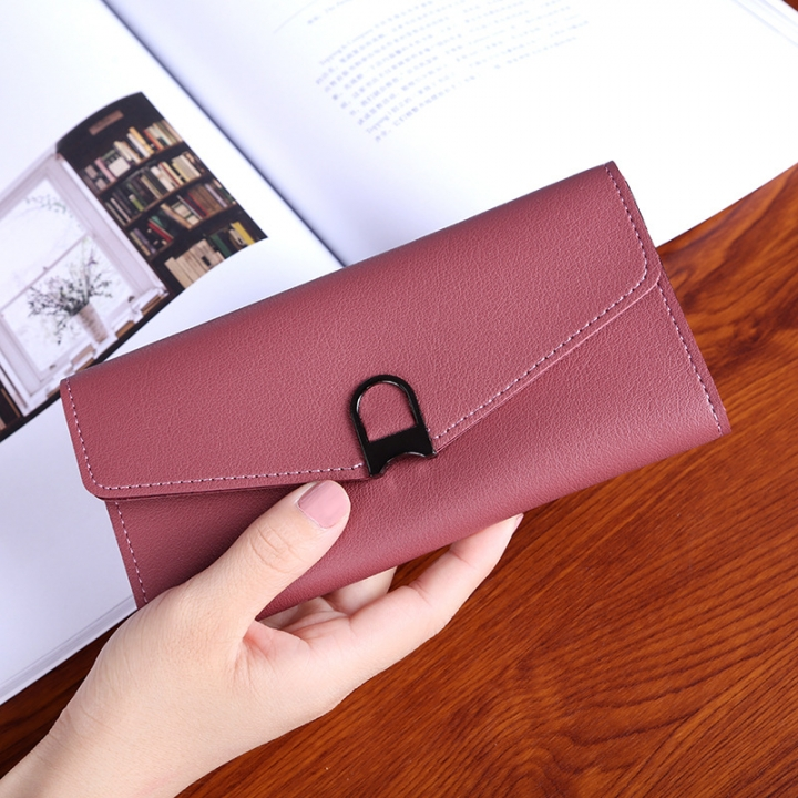 Female Wallet Student Lovely Wild Western Style Ultra Thin Mini Small Fresh Multi-Card Bit Wallet red wine one size