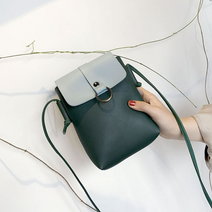 Mini Packet The New Mobile Phone Bag Small Square Bag Wild Shoulder Bags Messenger Bag green one size