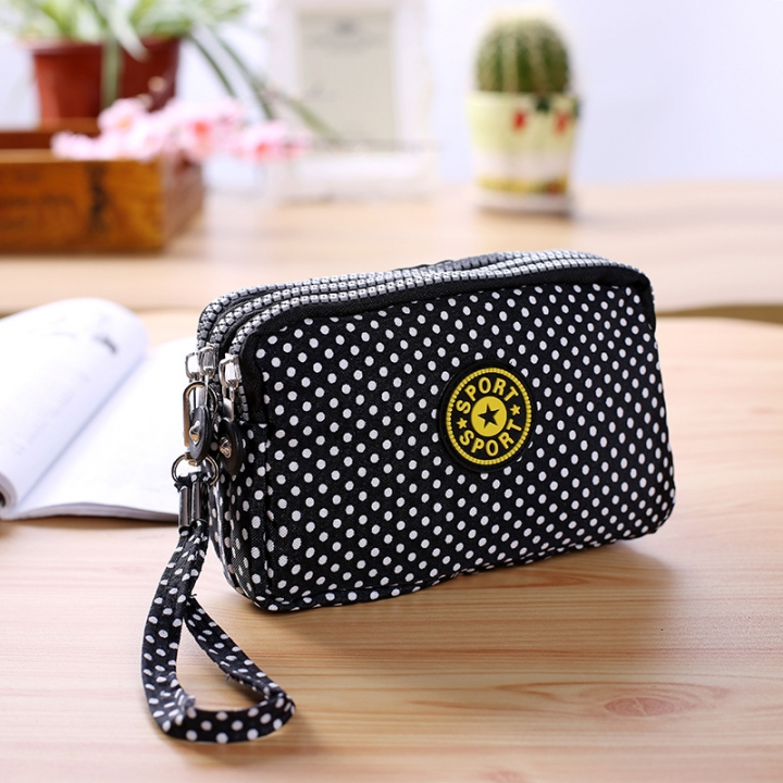 The New Cartoon Hand Bag Three Layers Zipper Short Section Mobile Phone Bag Ms Coin Purse 1 one size