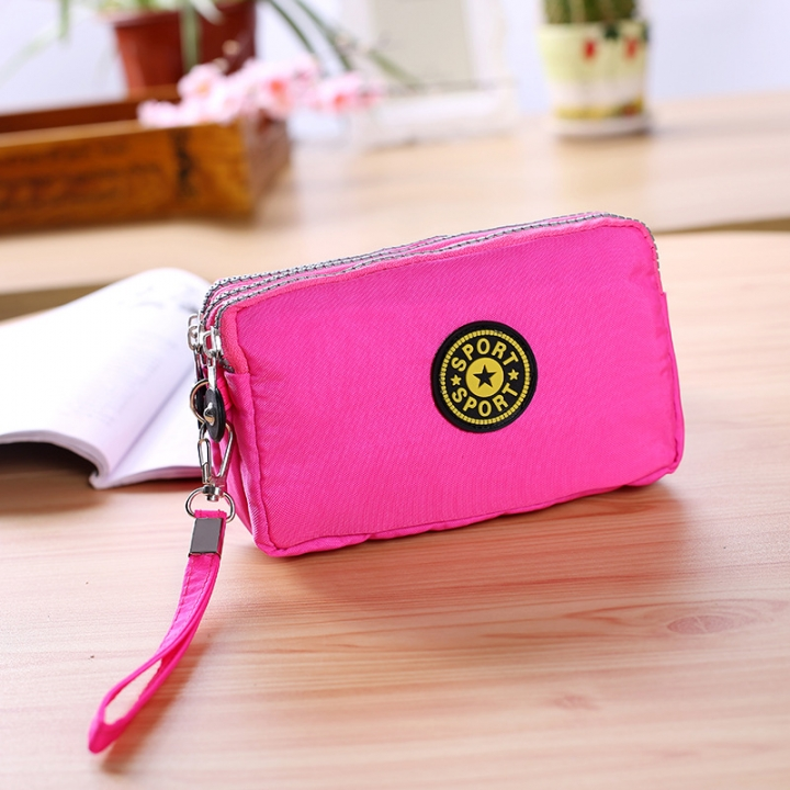 The New Cartoon Hand Bag Three Layers Zipper Short Section Mobile Phone Bag Ms Coin Purse 3 one size
