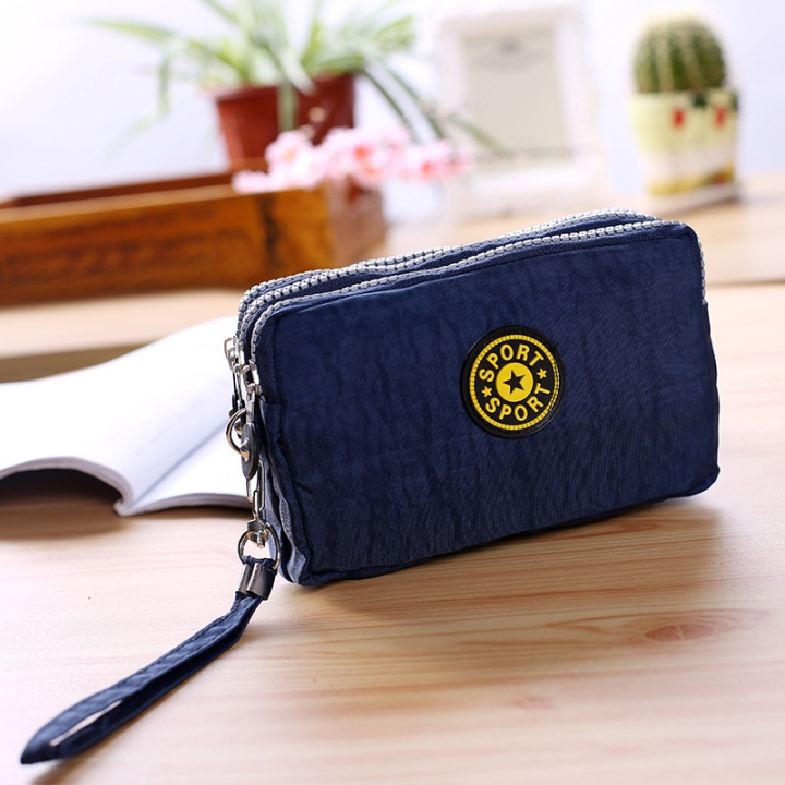 The New Cartoon Hand Bag Three Layers Zipper Short Section Mobile Phone Bag Ms Coin Purse 4 one size