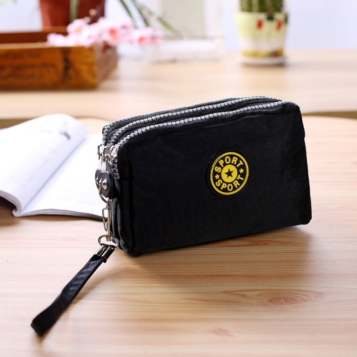 The New Cartoon Hand Bag Three Layers Zipper Short Section Mobile Phone Bag Ms Coin Purse 5 one size