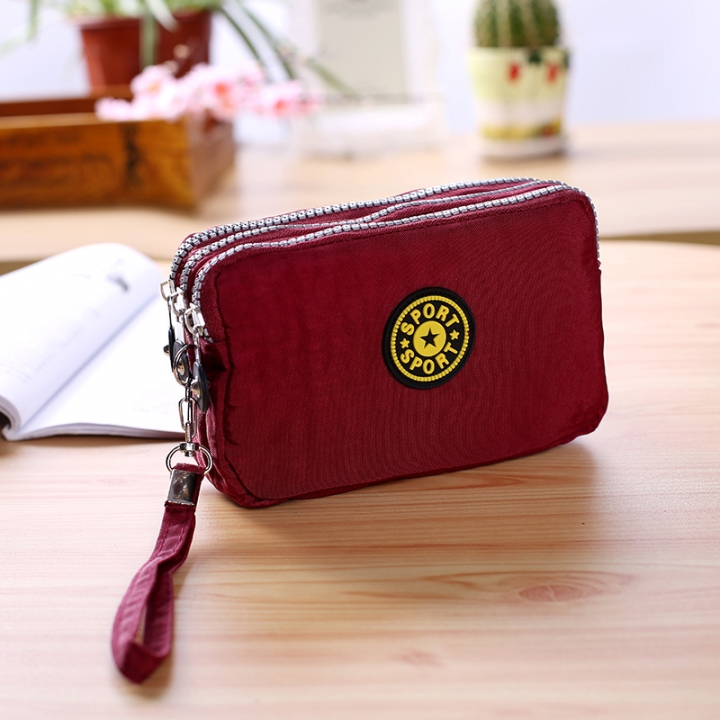 The New Cartoon Hand Bag Three Layers Zipper Short Section Mobile Phone Bag Ms Coin Purse 6 one size