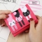 Short Section Student Wallet 3 Fold Cartoon Cat Lovely Ms Wallet Card Pack Coin Purse rose red one size
