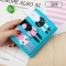 Short Section Student Wallet 3 Fold Cartoon Cat Lovely Ms Wallet Card Pack Coin Purse ligth green one size