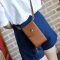 The New Lady Bags Hard Money PU Leather Mobile Phone Bag Fashion Leisure Messenger Bag brown one size