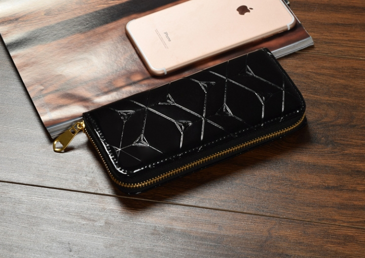 Female Hand Bag Wallet Zipper Wallet Mobile Phone Bag The New Ms Fashion Wallet black one size