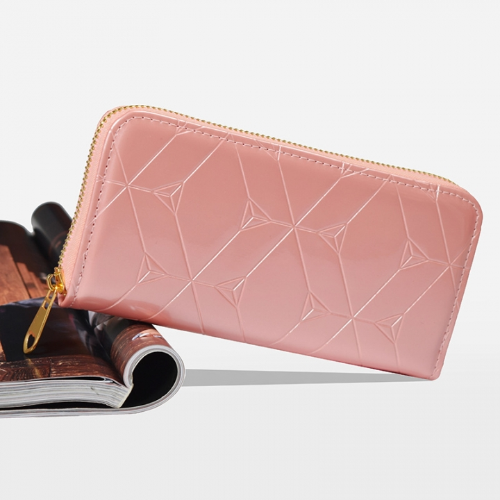 Female Hand Bag Wallet Zipper Wallet Mobile Phone Bag The New Ms Fashion Wallet pink one size