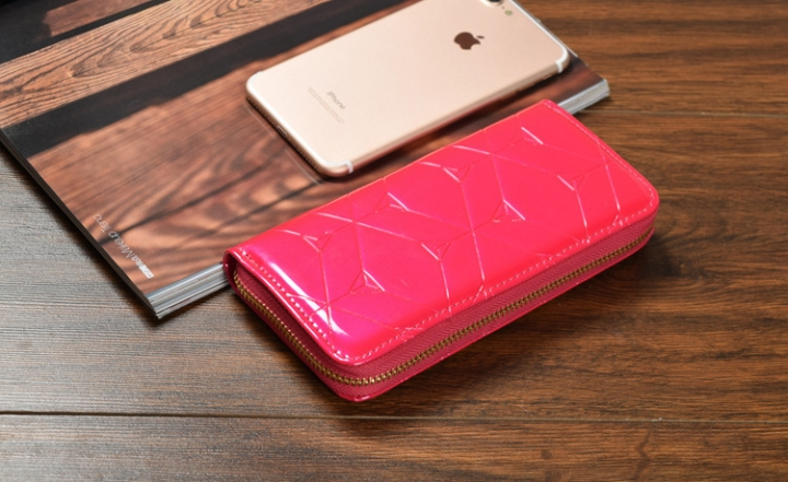 Female Hand Bag Wallet Zipper Wallet Mobile Phone Bag The New Ms Fashion Wallet rose red one size