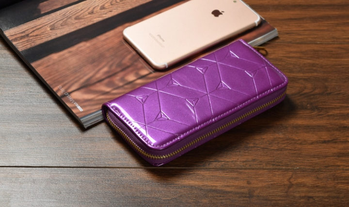 Female Hand Bag Wallet Zipper Wallet Mobile Phone Bag The New Ms Fashion Wallet purple one size