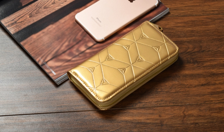 Female Hand Bag Wallet Zipper Wallet Mobile Phone Bag The New Ms Fashion Wallet gold one size
