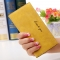 The New Ms Wallet Long Section Original Scrub Ultra Thin Retro Wallet Card Pack yellow one size