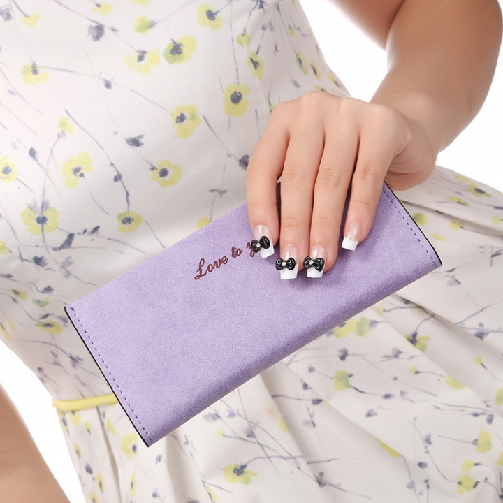 The New Ms Wallet Long Section Original Scrub Ultra Thin Retro Wallet Card Pack purple one size