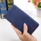 Ms Wallet Card Pack Ultra Thin Scrub Retro Fashion Leisure Student Wallet dark blue one size