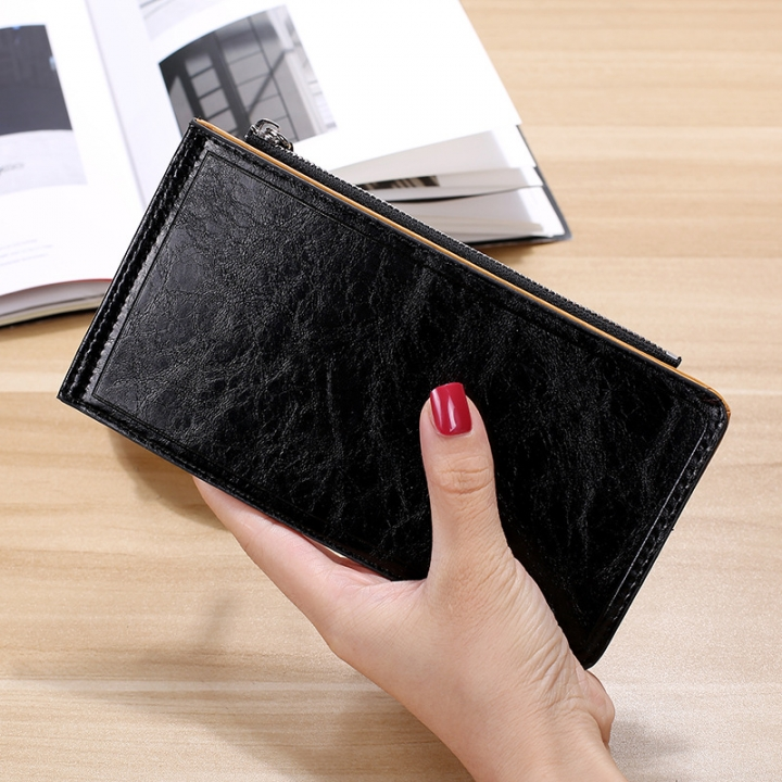 Fashion Flat Multi-card Bit Card Pack Ms Long Section Wallet Multifunction Ultra Thin Card Pack black one size