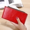 Fashion Flat Multi-card Bit Card Pack Ms Long Section Wallet Multifunction Ultra Thin Card Pack red one size