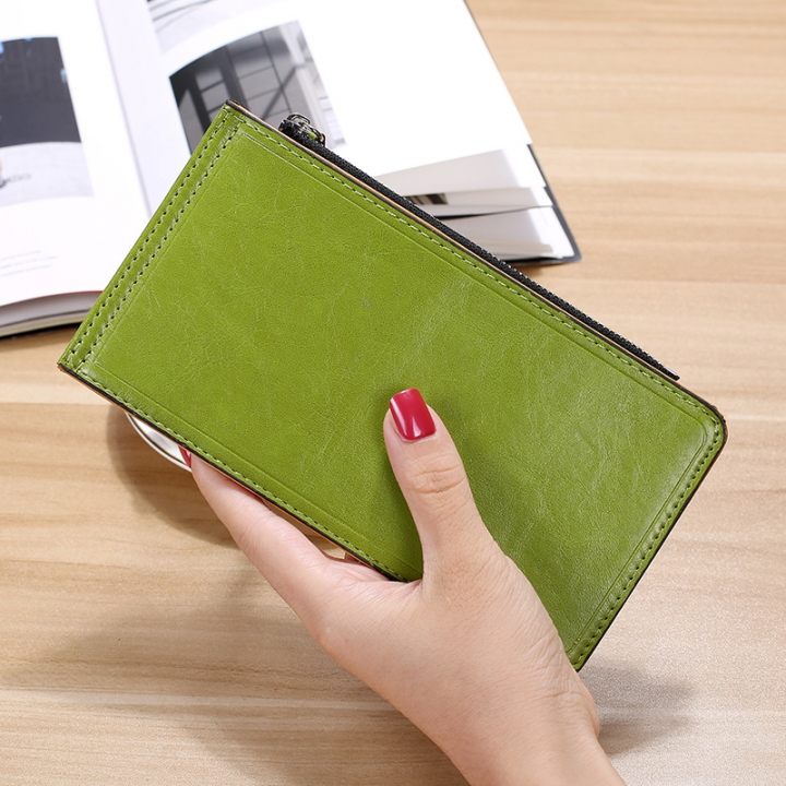 Fashion Flat Multi-card Bit Card Pack Ms Long Section Wallet Multifunction Ultra Thin Card Pack Fruit green one size