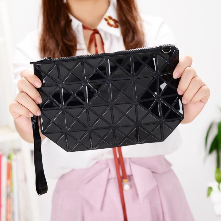 Female Shoulder Bags Lingge Chain Bag Mobile Phone Bag Messenger PU Fashion Leisure Lady Bags black one size