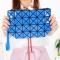 Female Shoulder Bags Lingge Chain Bag Mobile Phone Bag Messenger PU Fashion Leisure Lady Bags blue one size