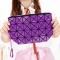 Female Shoulder Bags Lingge Chain Bag Mobile Phone Bag Messenger PU Fashion Leisure Lady Bags dark purple one size