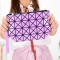 Female Shoulder Bags Lingge Chain Bag Mobile Phone Bag Messenger PU Fashion Leisure Lady Bags ligth purple one size
