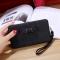 Ms wallet Mobile phone bag Bow tie Simple fashion Hand bag trend Female Folder bag black one size