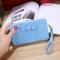Ms wallet Mobile phone bag Bow tie Simple fashion Hand bag trend Female Folder bag ligth blue one size