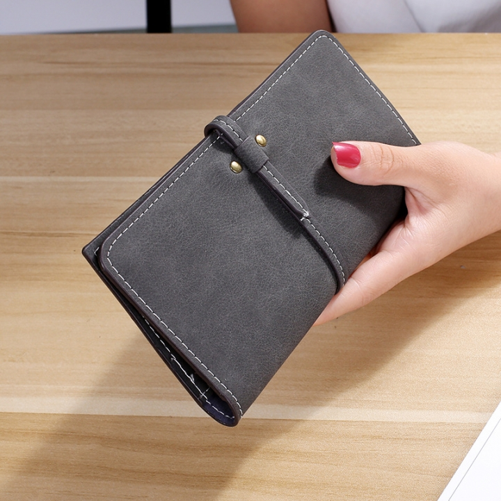 The New Ms Wallet Long Section Card Pack Scrub Female Wallet Fashion Student Wallet black one size