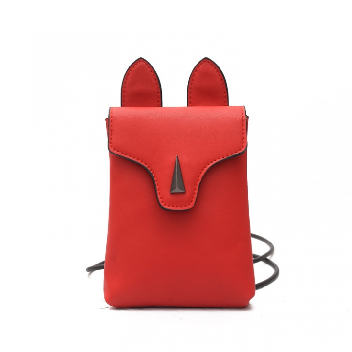 Fashion Lady Bags Leisure Ms Packet Cartoon Lovely Shoulder Bags Rabbit Oblique Cross Package red one size