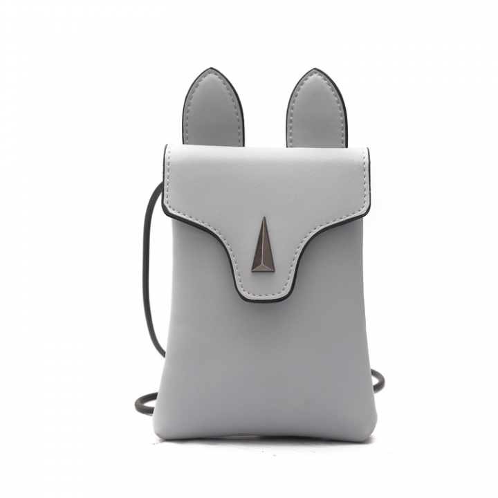 Fashion Lady Bags Leisure Ms Packet Cartoon Lovely Shoulder Bags Rabbit Oblique Cross Package gary one size