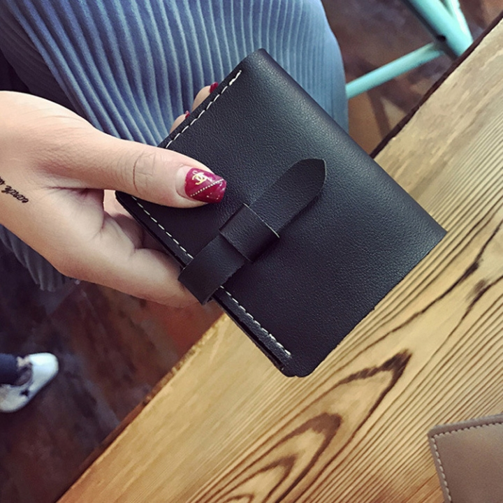 The New Ms Wallet Fashion Simple Multi-card Bit Student Female Wallet Card Pack Coin Purse black one size