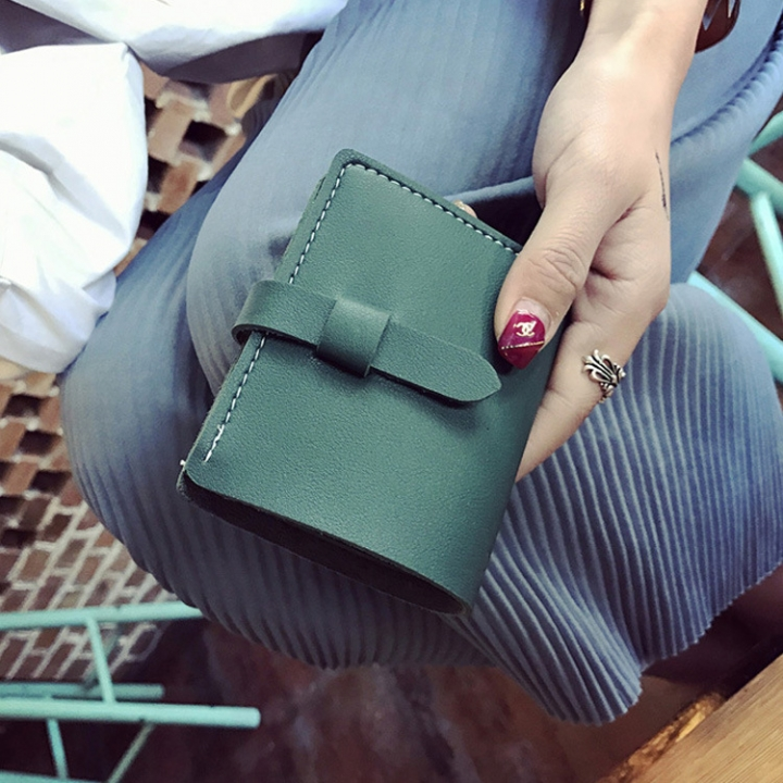 The New Ms Wallet Fashion Simple Multi-card Bit Student Female Wallet Card Pack Coin Purse green one size