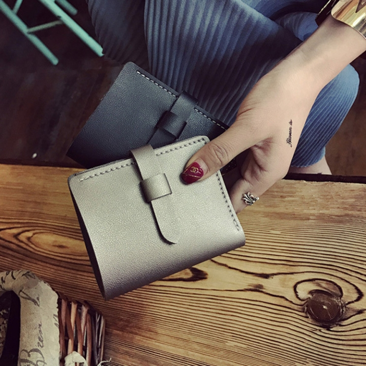 The New Ms Wallet Fashion Simple Multi-card Bit Student Female Wallet Card Pack Coin Purse champagne gold one size