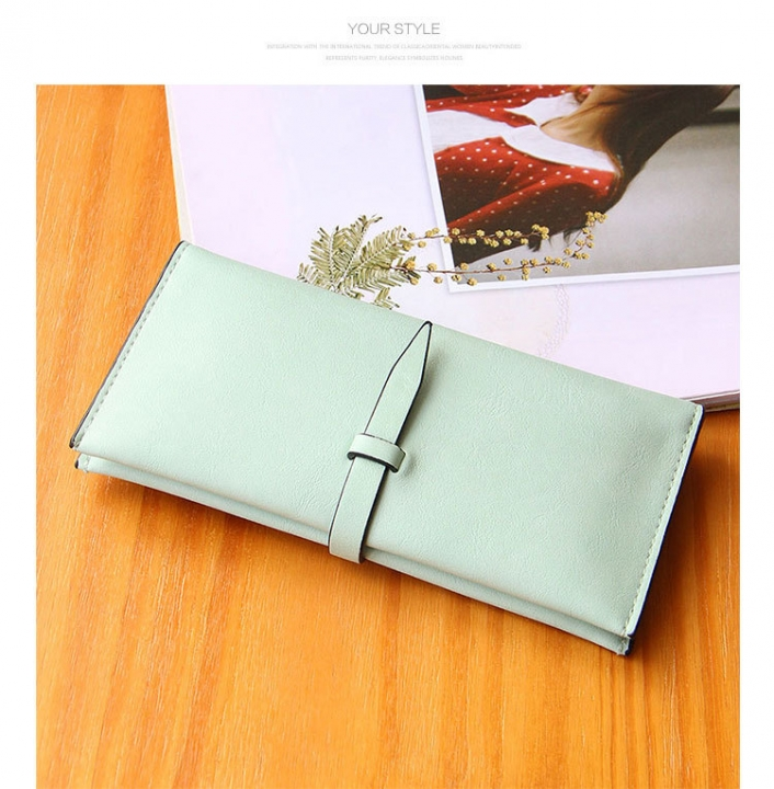 Ms Scrub Card Pack Long Section Retro Coin Purse Student Fashion Hand Bag ligth green one size
