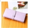Ms Scrub Card Pack Long Section Retro Coin Purse Student Fashion Hand Bag purple one size